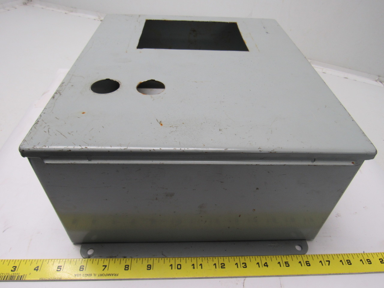 electrical panel cover hoffman a1412ch 14 x 12 x 6 electrical enclosure w hinged cover back panel