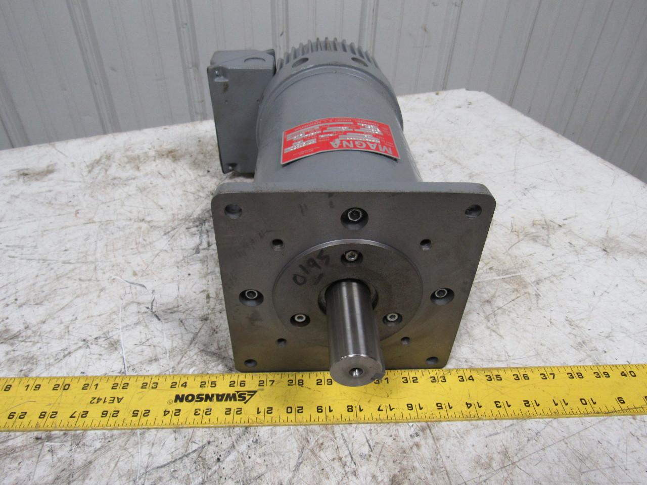 Magna 183 18 0193 permanent magnet dc servo motor 230vdc for Servo motor frame sizes