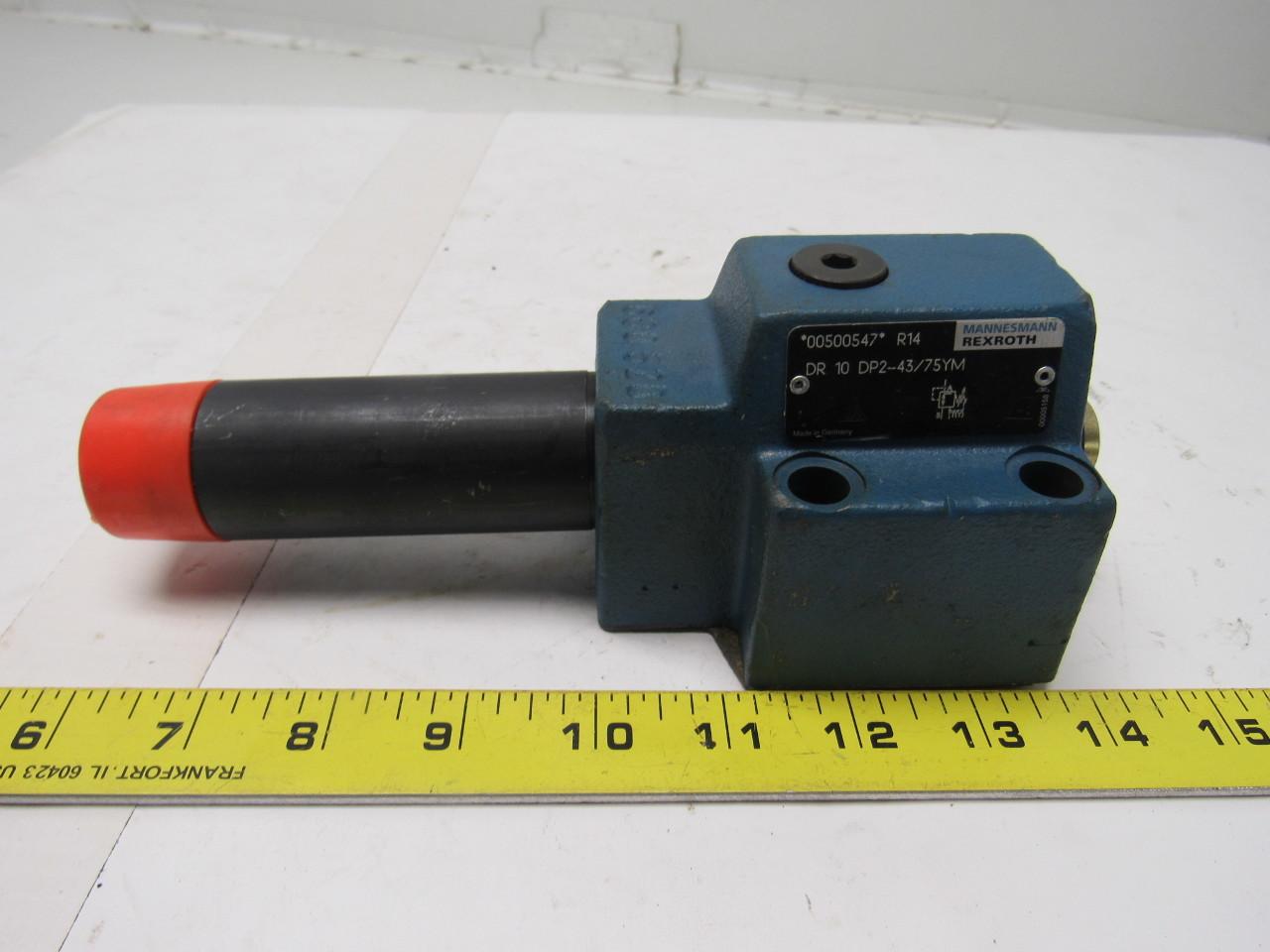 Rexroth DR-10-DP2-43/75YM Pressure Reducing Valve  1090 PSI (75 bar)