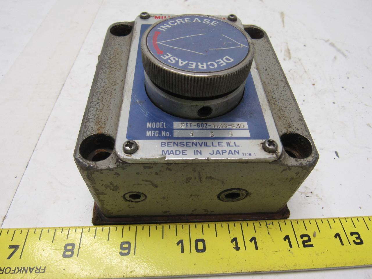 Miller Nachi CFT-G02-1.3G-E30 Hydraulic Flow Control Valve