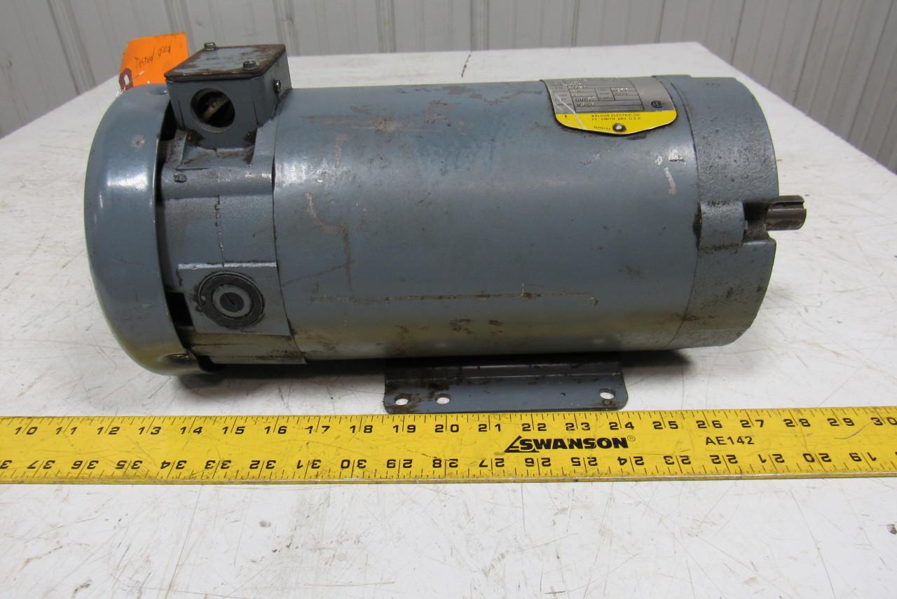 Baldor p004781 35p279z164 1 1 2 hp 180v 1750 rpm 145tc 7 for 2 hp dc electric motor