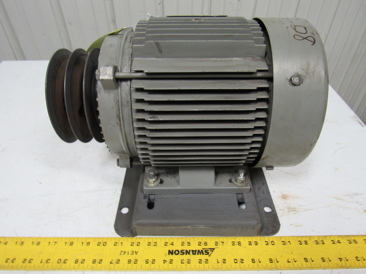 General Electric 5k184al217c 5hp Electric Motor 3ph 230