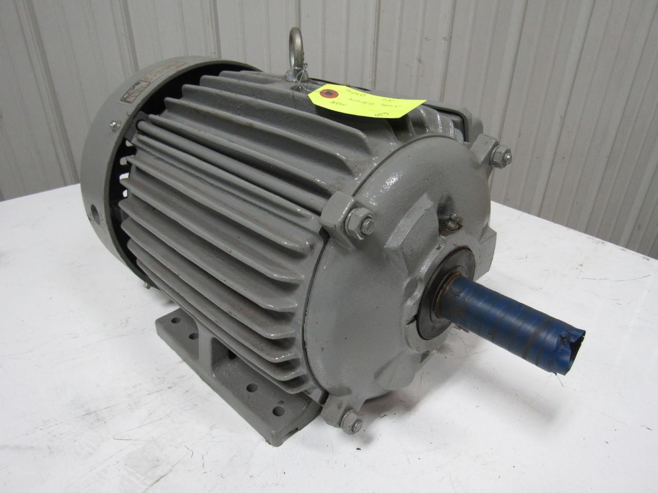 Teco Westinghouse E0038 3hp Electric Motor 3ph 208 230
