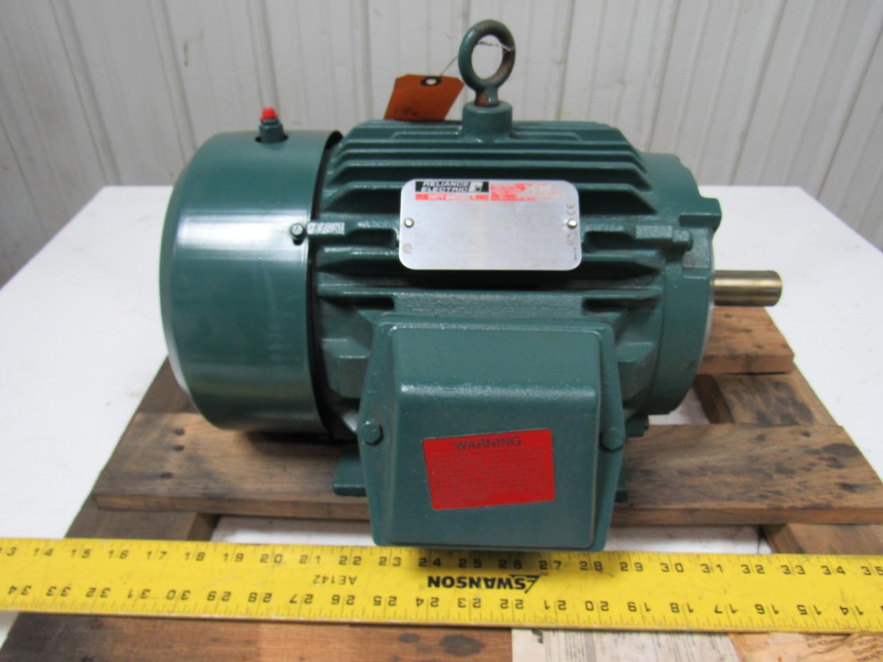 Reliance p18g7403r 5 hp ac motor 1750rpm l184t 230 460v for 5 hp tefc motor