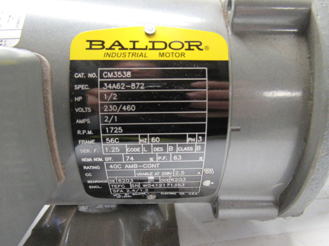 Baldor viking vm3538 7r948c1 hydraulic pump 1 2 hp for 1 2 horsepower electric motor