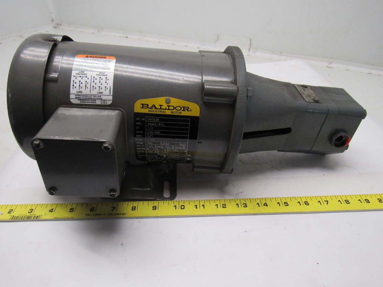 Baldor viking vm3538 7r948c1 hydraulic pump 1 2 hp for Baldor 2 hp single phase motor