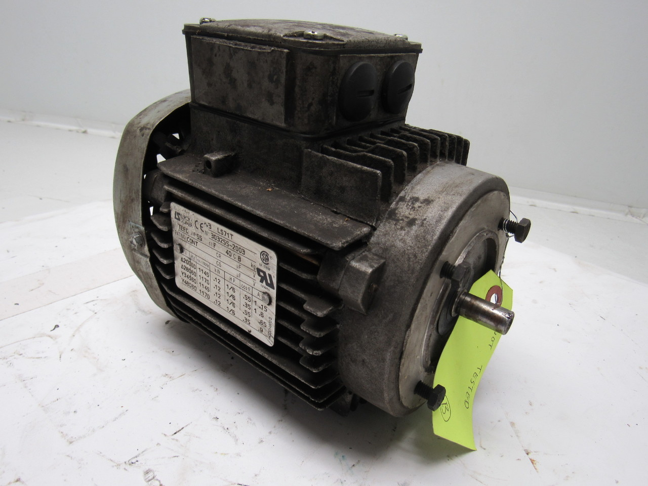 Ls leroy somer ls71t 1 6 hp electric motor 3ph 200 280 345 for 200 horsepower electric motor