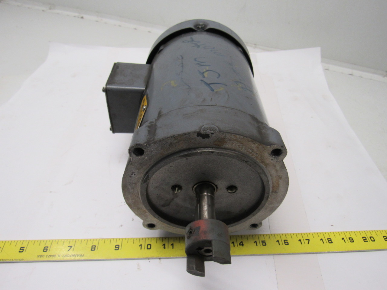 Baldor vm3538 1 2 hp electric motor 3ph 208 230 460v for 56c frame motor dimensions