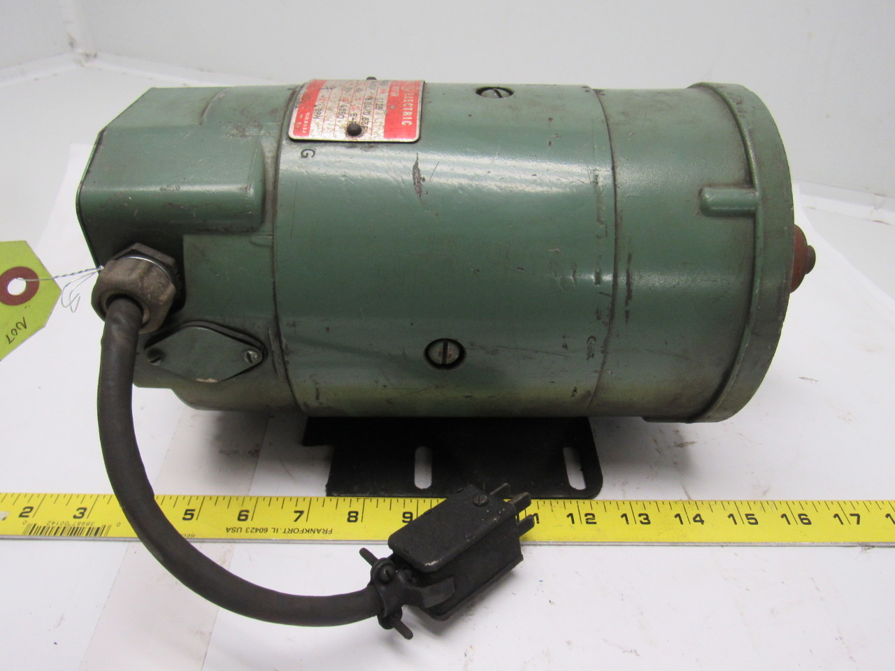 Ge general electric 5bcd56kb32b 1 4 hp dc electric motor for Dc motor 1 3 hp