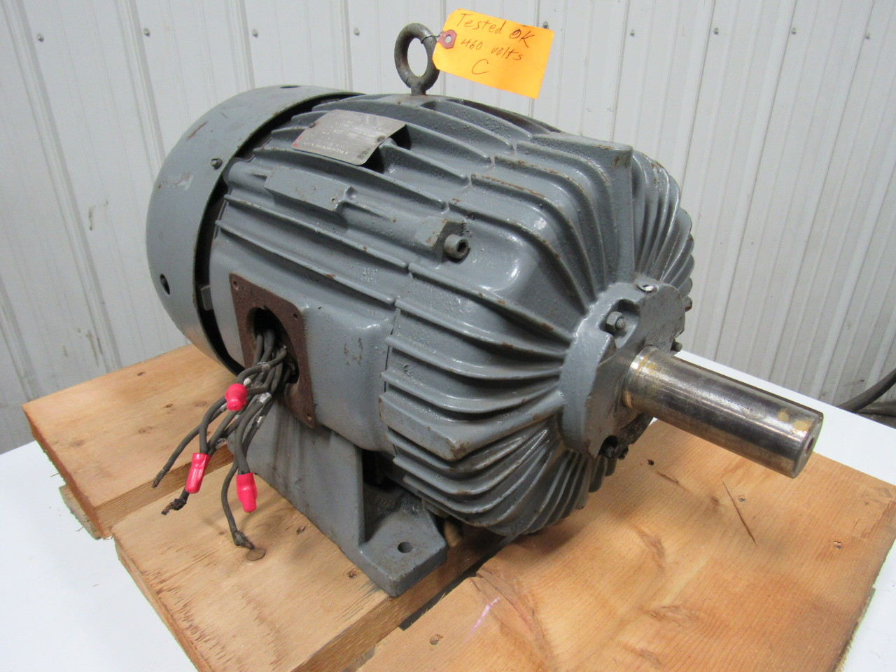 Delco 2u2100 25hp 3ph 230 460v 1755rpm 1 7 8 shaft for Electric motor shaft repair