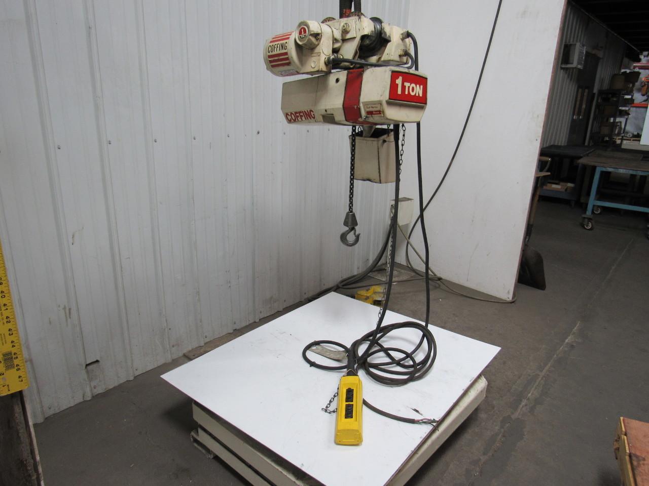 duff norton jf 863 1t coffing 1 ton 2sp electric chain hoist w duff norton jf 863 1t coffing 1 ton 2sp electric chain hoist