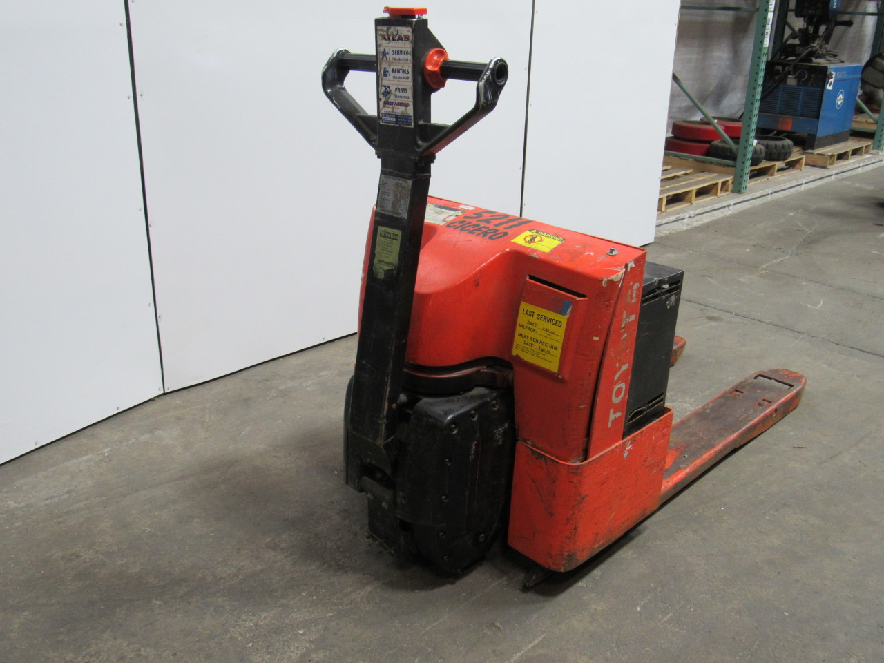 Toyota 6hbw20 Electric Pallet Jack Walkie Walk Behind 4000lb Cap Fork Lift Ebay