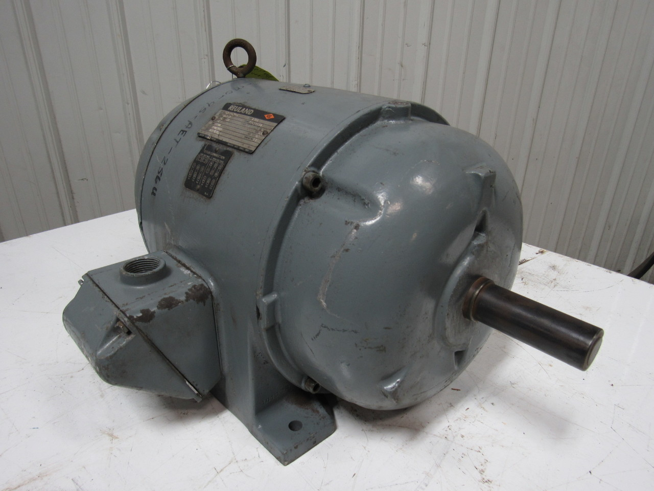 Reuland 11124 5hp electric motor 3ph 230 460v 1200 rpm aft for 5hp 3ph electric motor