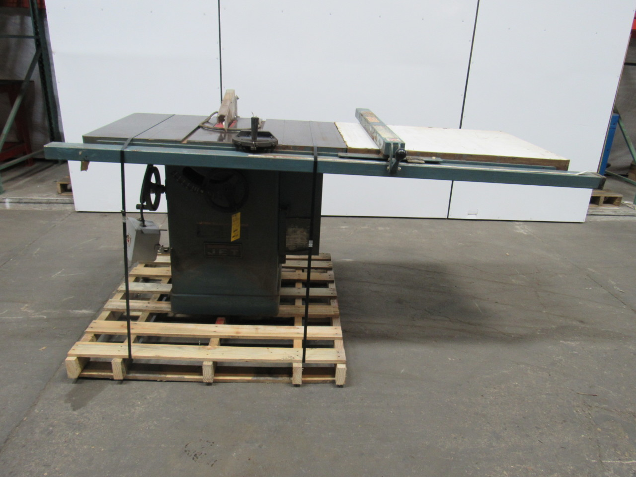Jet Jtas 10 3 10 5hp Table Saw W Tilting Arbor Extended Table 220 460v 3 Ph Ebay