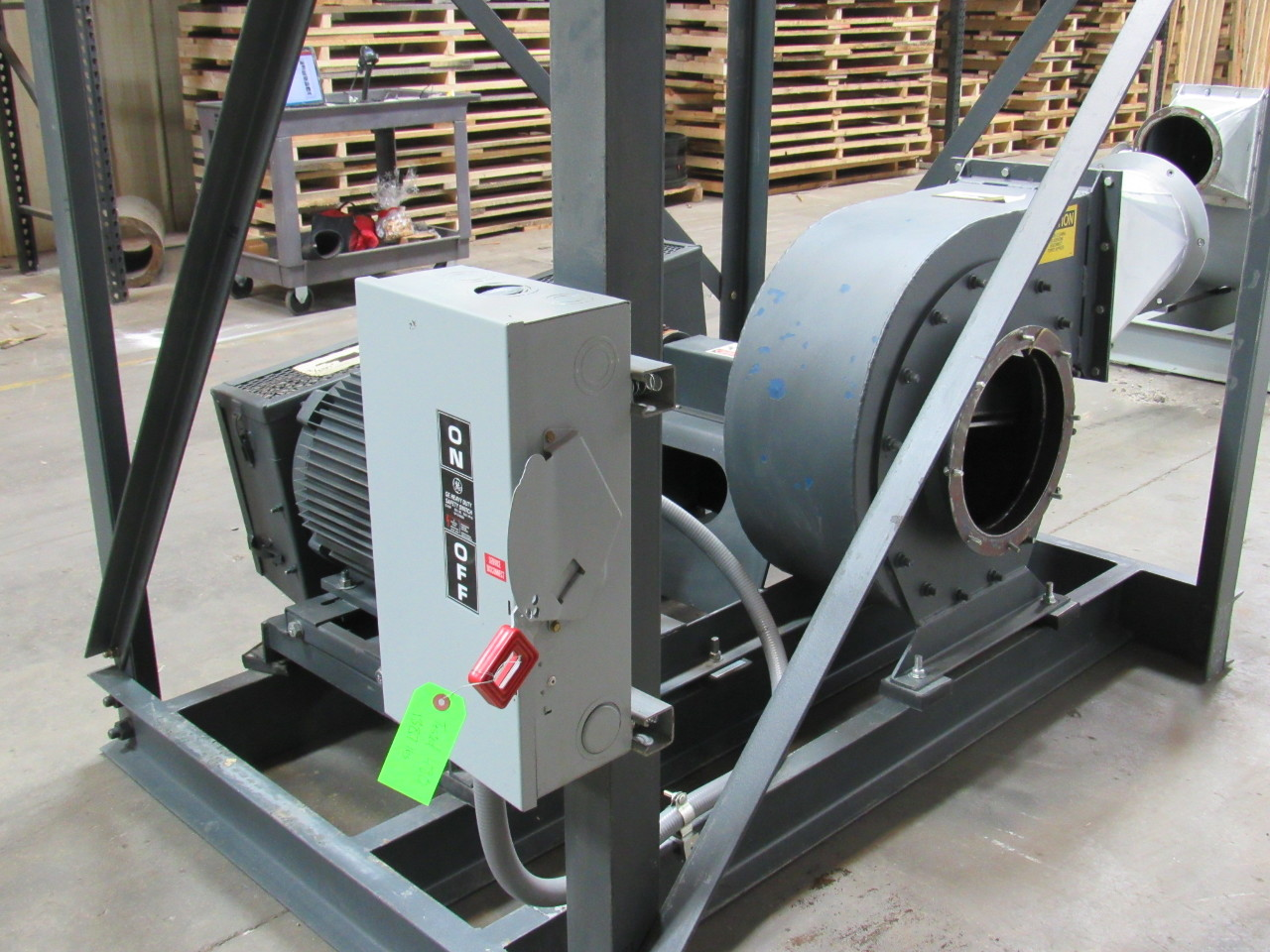 Puhl 112 01 9r 25 hp blower paper dust collector fan 50 for Dust collector motor blower