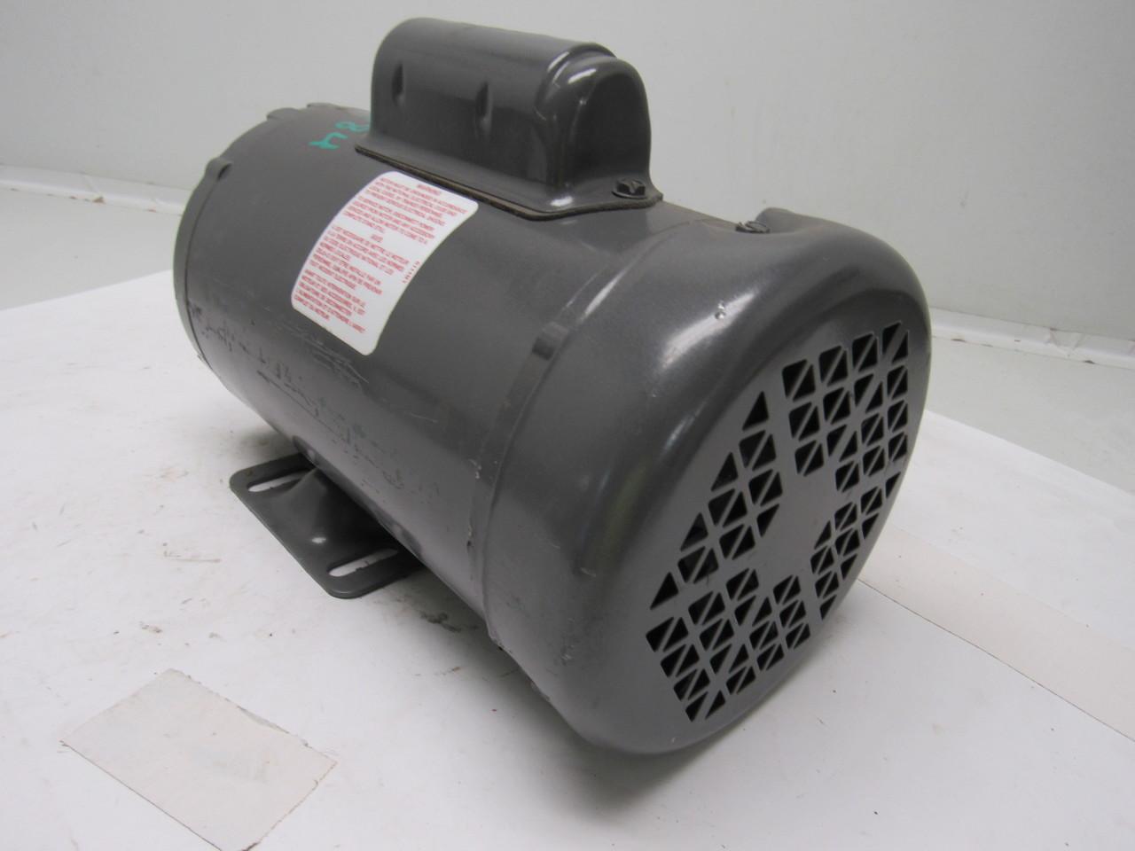 Baldor L3409 50 1 2hp 1425rpm 110 220v 1ph Electric Motor Ebay