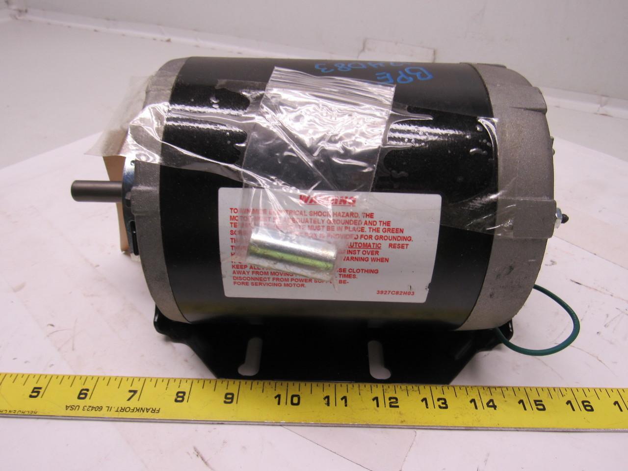Ao smith 316p760 1 2 hp 115 v 1 ph 1725 rpm electric for Ao smith 1 2 hp motor