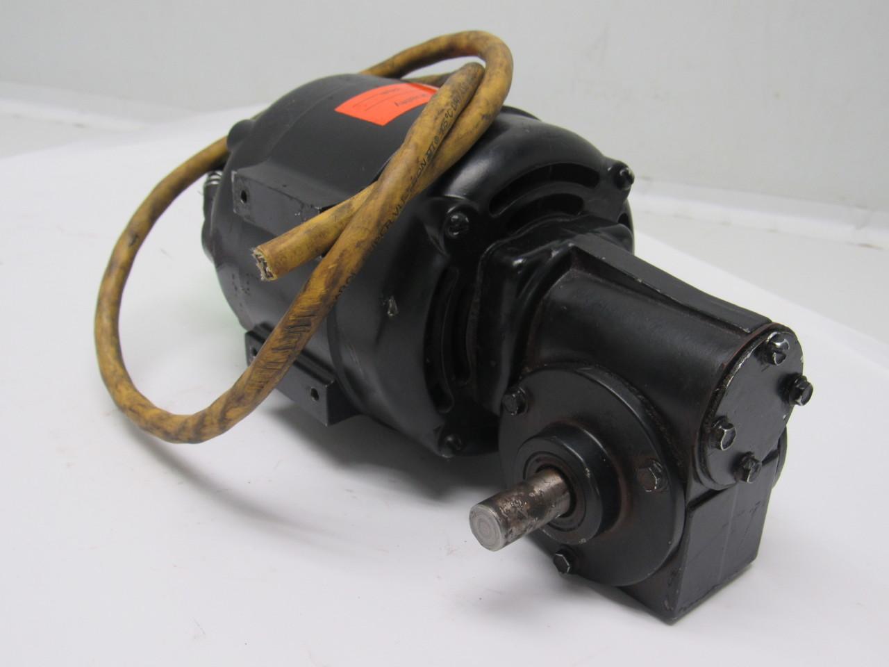 Bodine Nsi 33r 1 20hp 230v 345rpm 5 1 Ratio Electric Gear