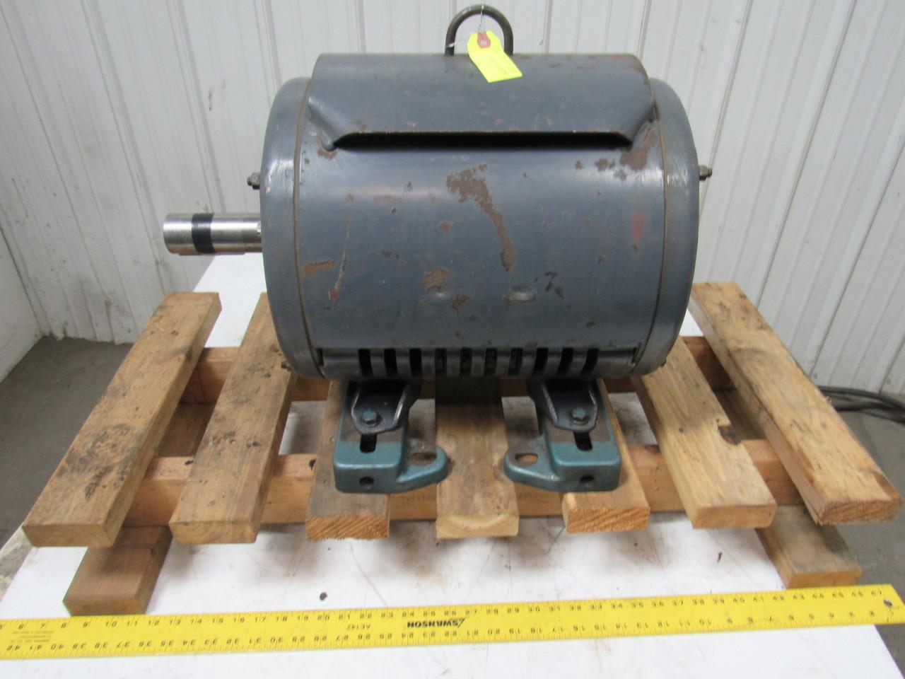 Lincoln 25hp Electric Motor 3ph 230 460v 1750 Rpm 284t
