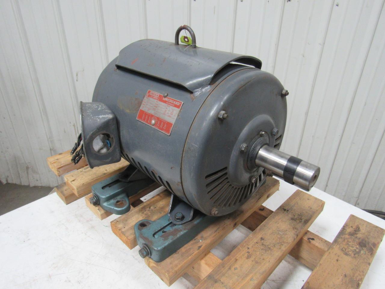 Lincoln 25hp Electric Motor 3ph 230 460v 1750 Rpm 284t Frame