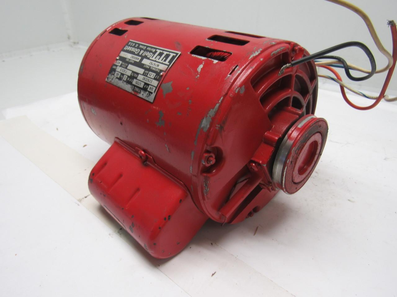 Bell gossett m80082 c99 3 4hp 1ph 115 230v 1725rpm for Bell gossett motors