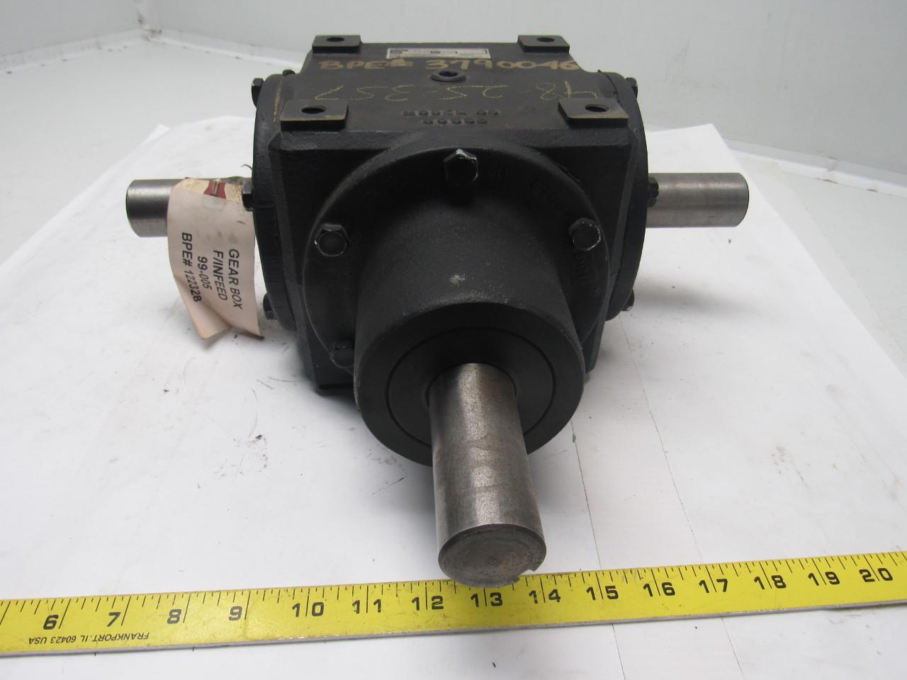 Washington scientific 99 005 von ruden right angle gear for Von ruden hydraulic motor