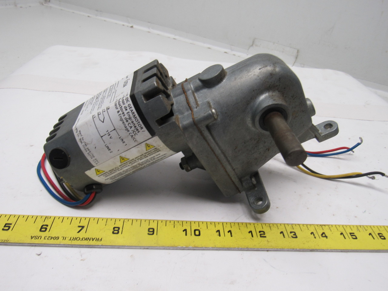 Dayton 1lpz6a Ac Dc Right Angle Gear Motor 115v 1 4a 100rpm 1 15hp 52 1 Ratio