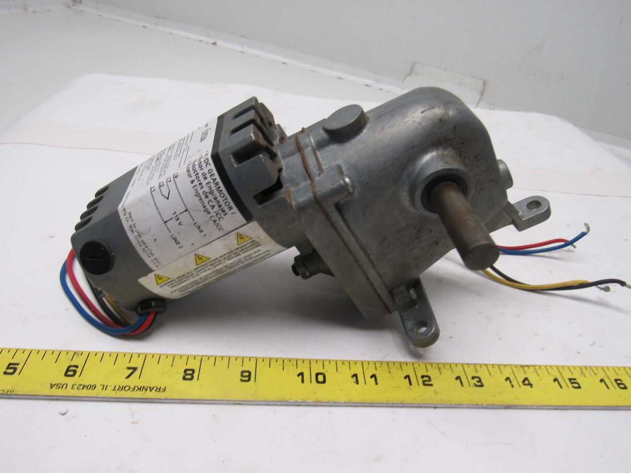 Dayton 1lpz6a ac dc right angle gear motor 115v 1 4a for Dc right angle gear motor
