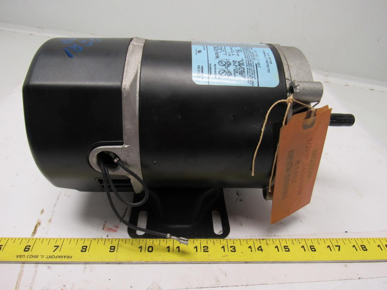 General electric 5kc39hn2888x 1 2 hp 115 230v 1ph 3450rpm for 1 hp jet pump motor