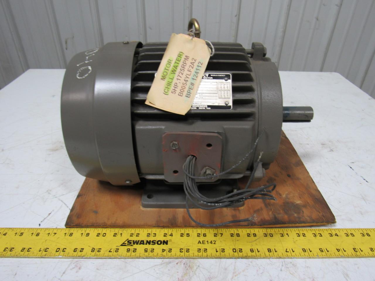 Toshiba b0054flf2ak 5hp 3ph 1740 rpm 230 460v electric for 5hp 3ph electric motor