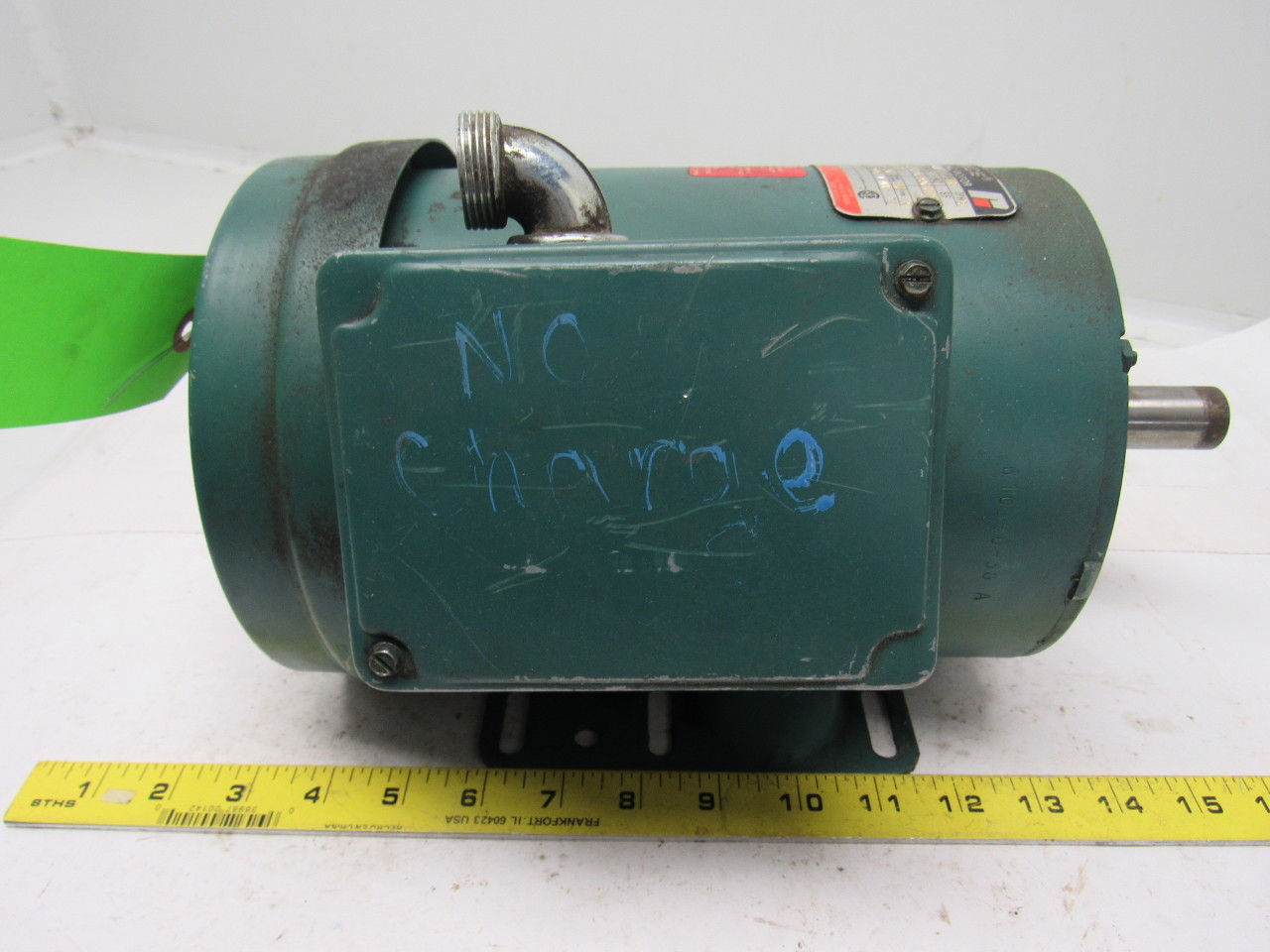 Reliance electric b77r7436m pq 1 5hp 3ph 208 230 460v for Reliance dc motor frame size chart