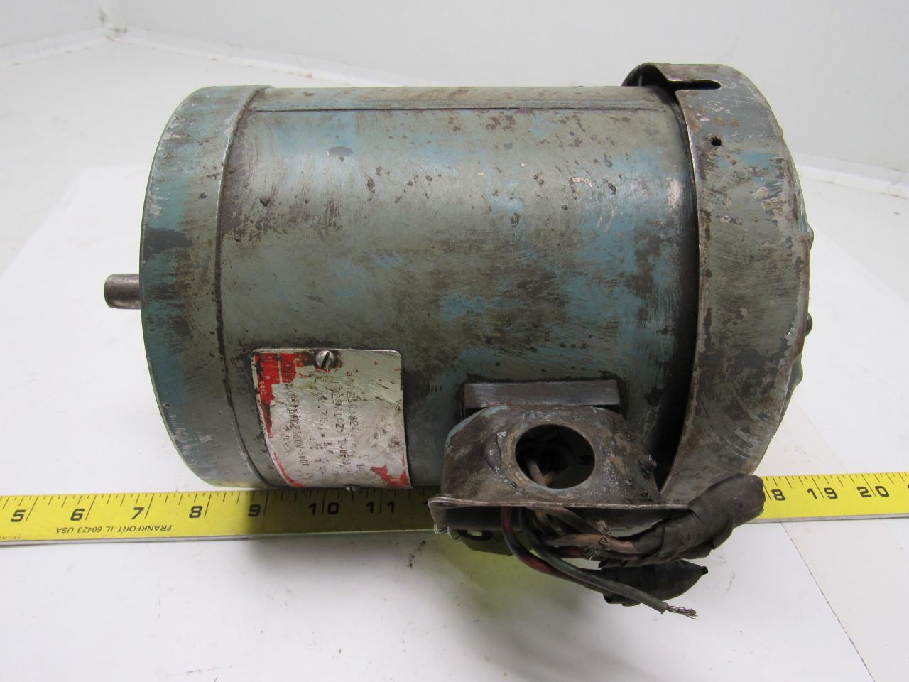 5ka2dg3824 1 4hp 208 230 460v 3ph 1725rpm electric motor for 56c frame motor dimensions