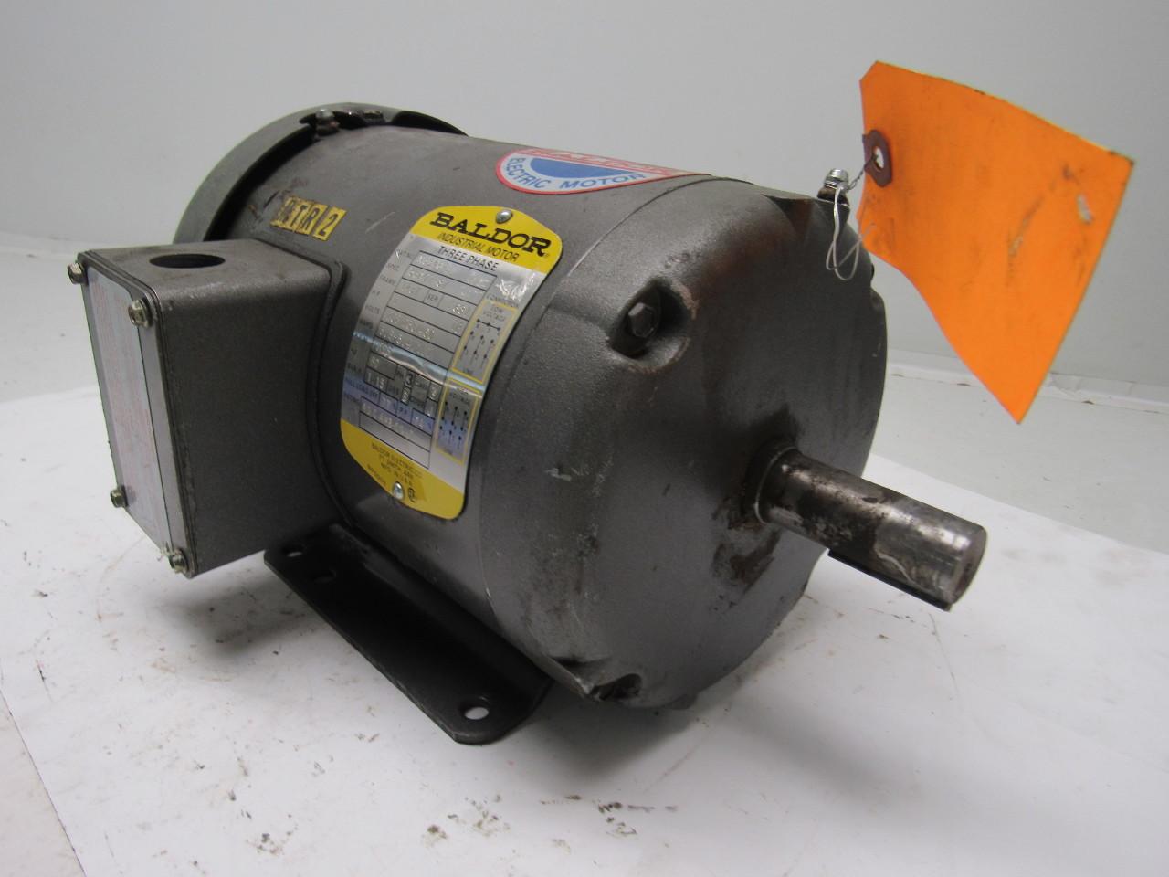 Baldor M3546t 1hp Electric Motor 3ph 208 230 460v 1725 Rpm