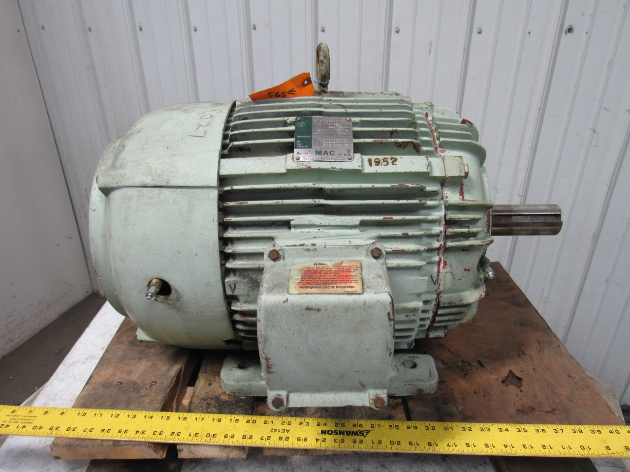 Westinghouse 40 Hp Electric Motor Mill Chemical 460v 3ph