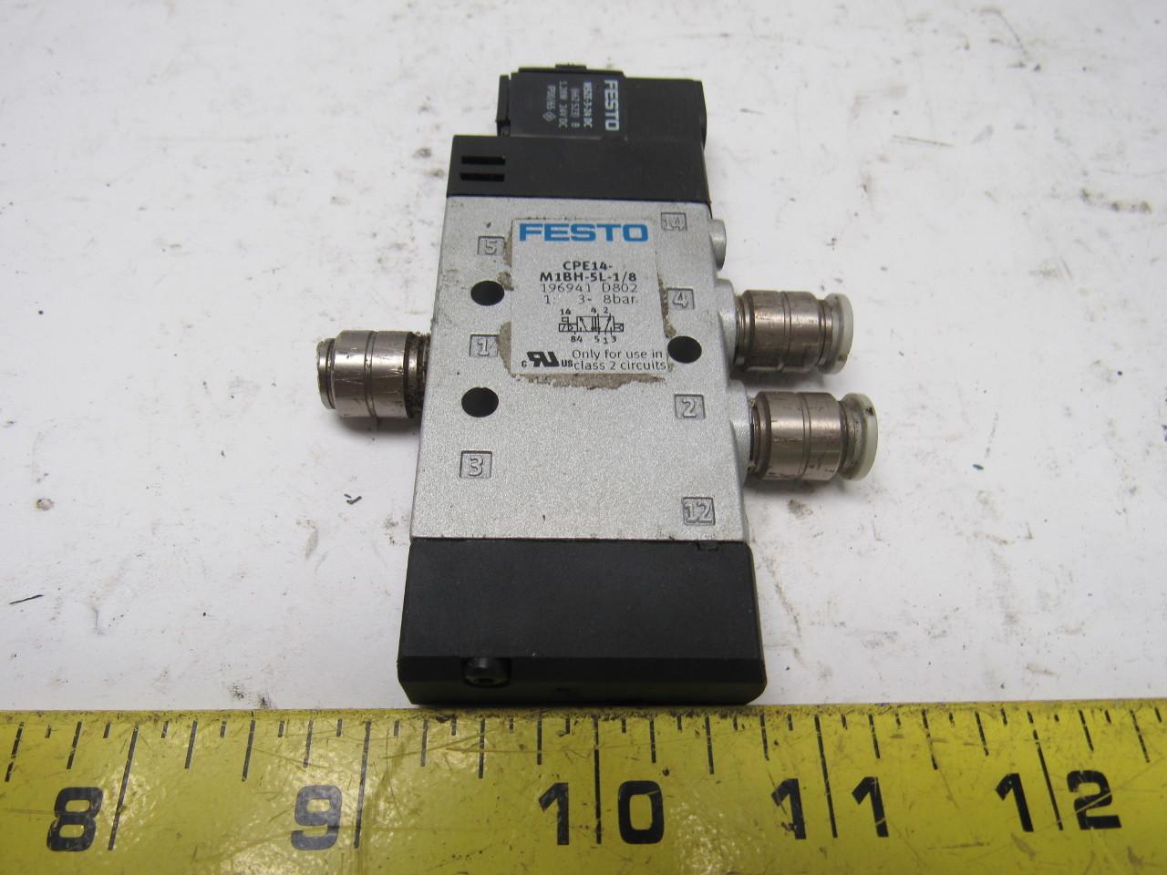 festo pneumatic valves festo cpe14 m1bh 5l 1 8 pneumatic directional control valve 24vdc