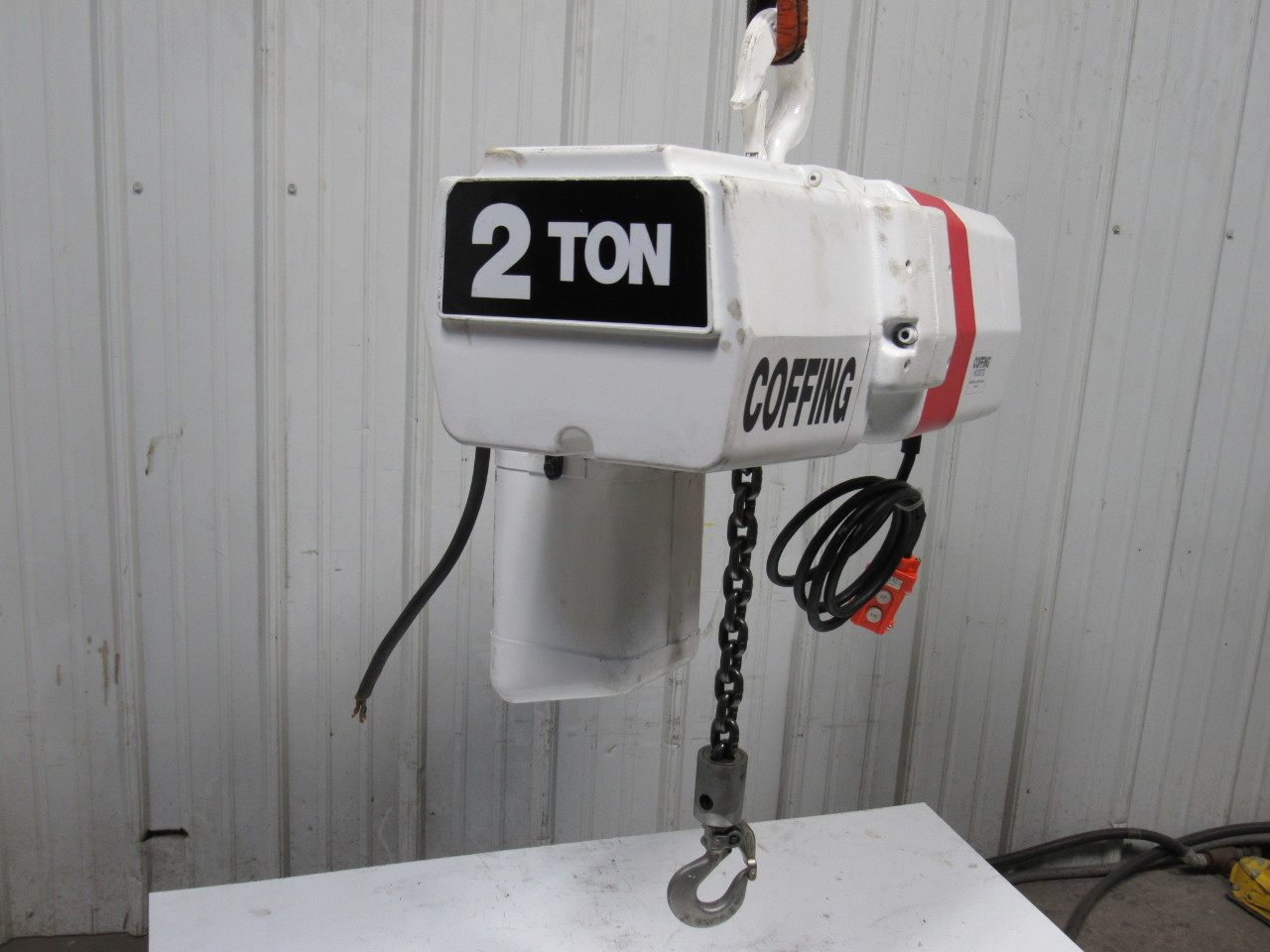 coffing 4024 3 2 ton electric chain hoist 12 39 lift 24fpm. Black Bedroom Furniture Sets. Home Design Ideas