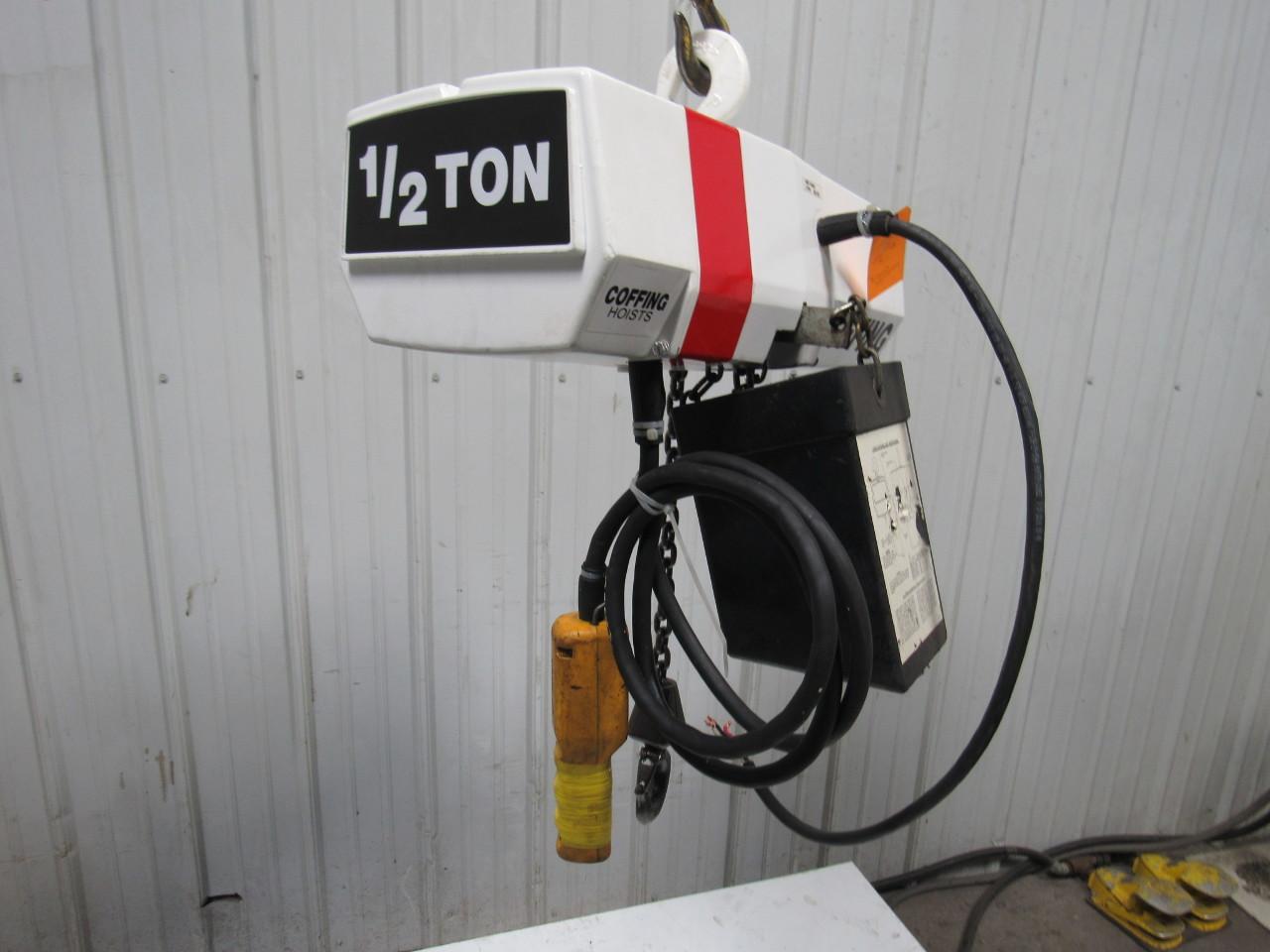 coffing 1 2 ton hoist parts diagram coffing ec1032.4 1/2 ton electric chain hoist 11'lift@ 10 ... #9