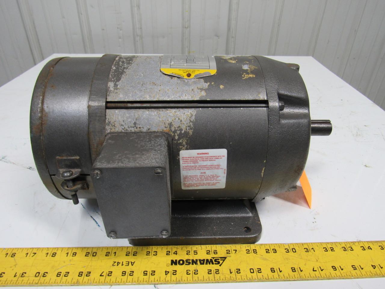 Baldor 1hp Dc Electric Motor 230vdc 182 Frame 1200 Rpm Ebay