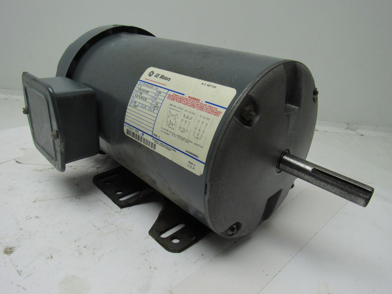 Ge General Electric 5k49zg8174 2hp Double Shaft Motor 208