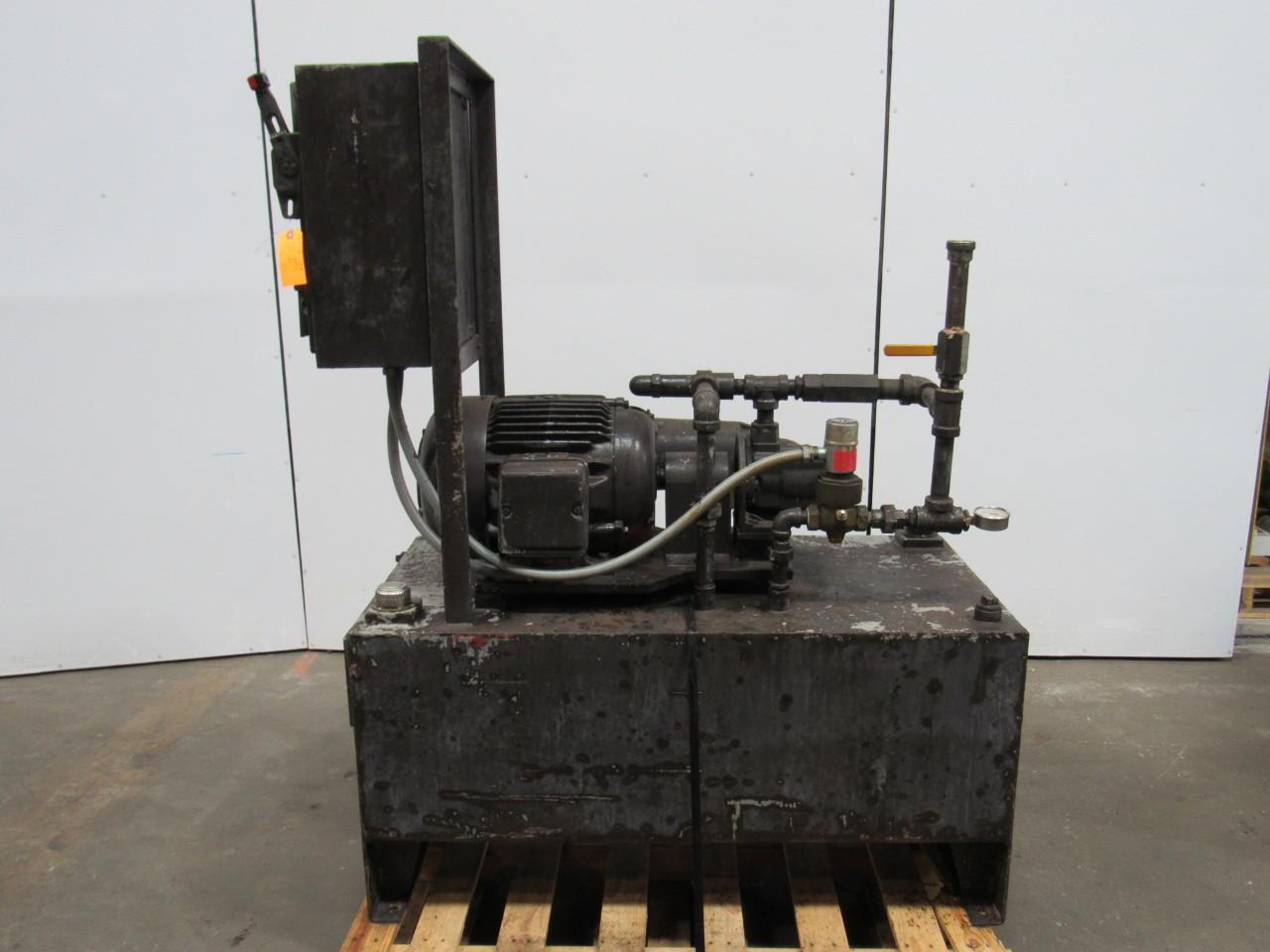 VICKERS/ MARMAC 85 GAL Hydraulic Power Unit 7-1/2HP 460V 3Ph W/ 25V Pump Tested
