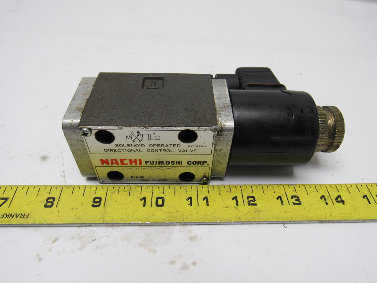 Nachi SA-G01-H3X-C1-11 Solenoid Operated Control Hydraulic Valve