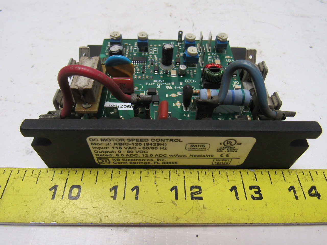 Kb electronics kbic 120 9429h dc motor speed control in for 90 volt dc motor controller