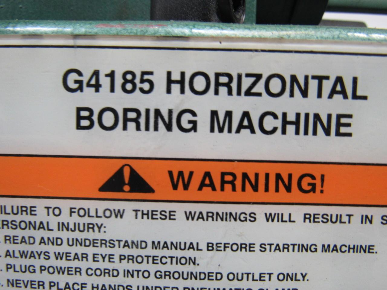 grizzly horizontal boring machine