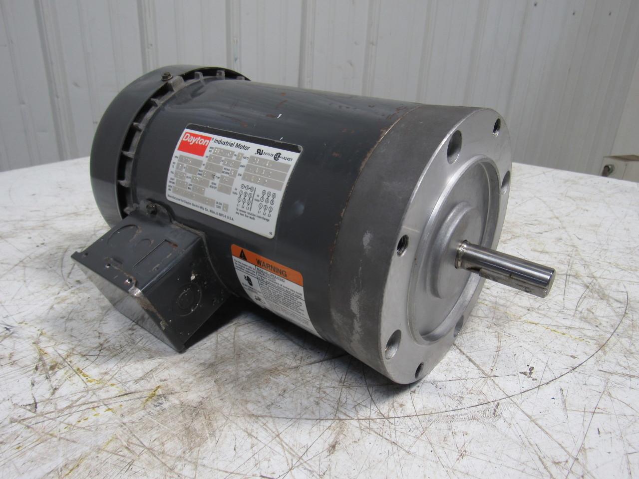 Dayton 3n266c 2 hp ac electric motor 230 460v 3ph 1725rpm for Dayton 1 3 hp electric motor