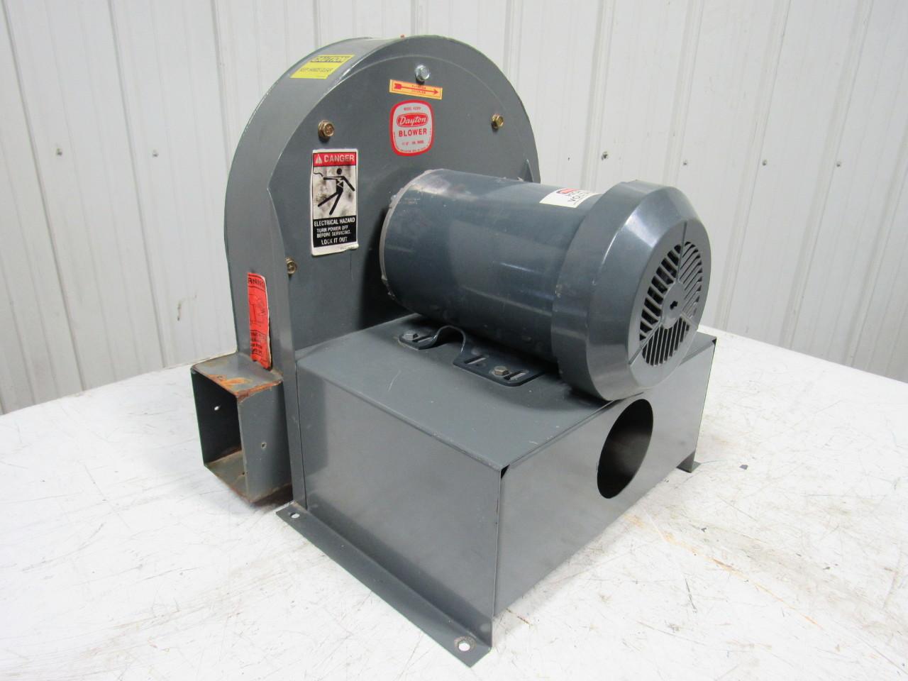 Hi Pressure Blower : Dayton c  quot w hp high pressure blower ge