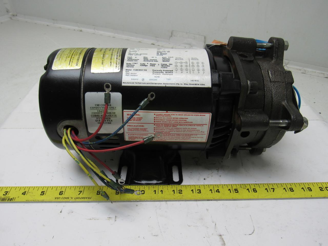 Teel 4rh59 3 4 Hp 208 230 460v Centrifugal Pump W Dayton