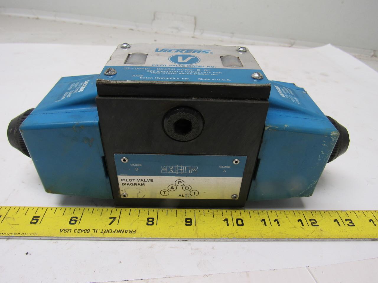 Vickers DG4S4L-016C-B-60 Hydraulic Directional Control Valve