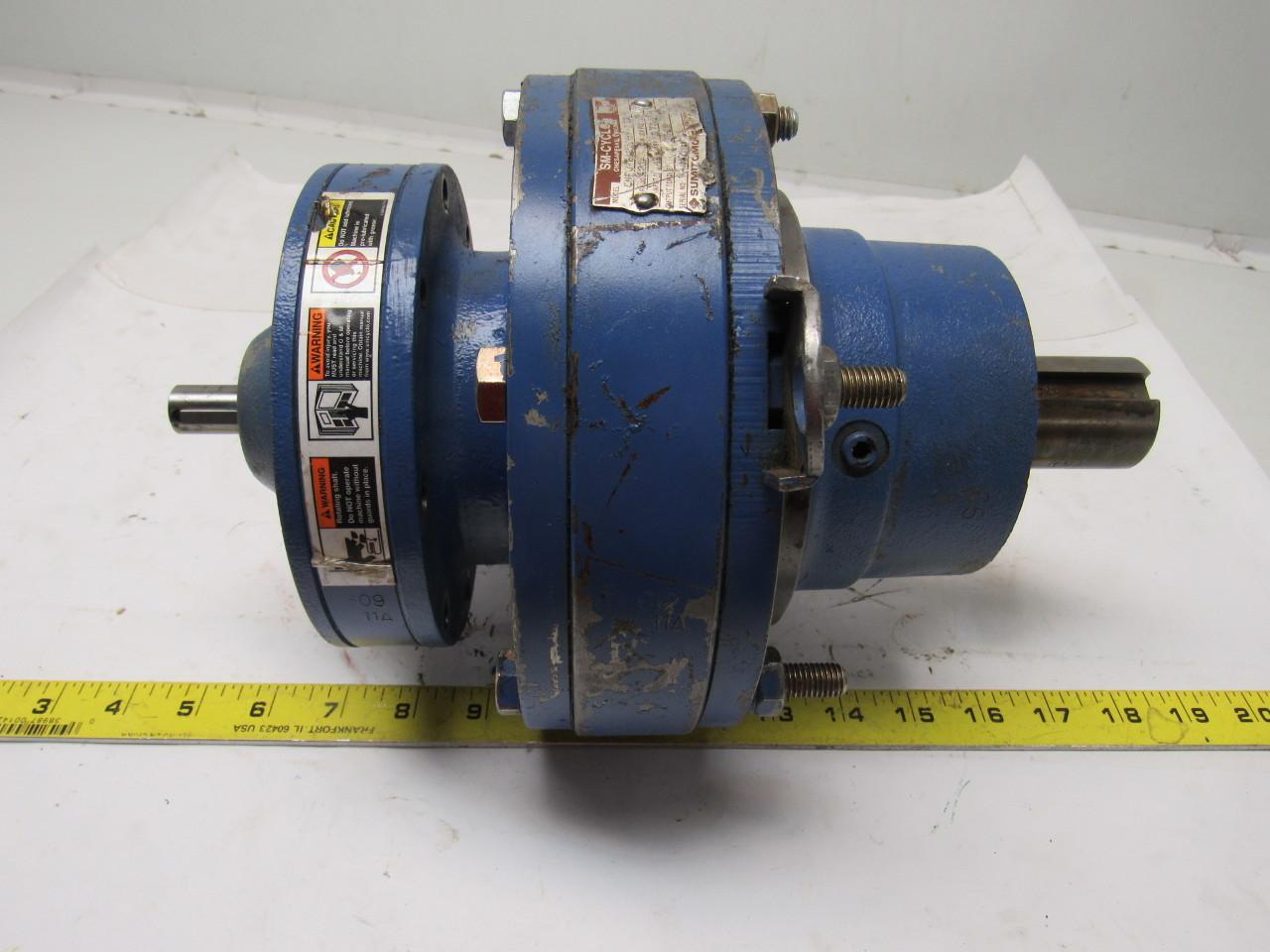Sumitomo SM-Cyclo CNFJ-6123DBY-121 Inline Gear Reducer 121:1 Ratio 1.41 Hp