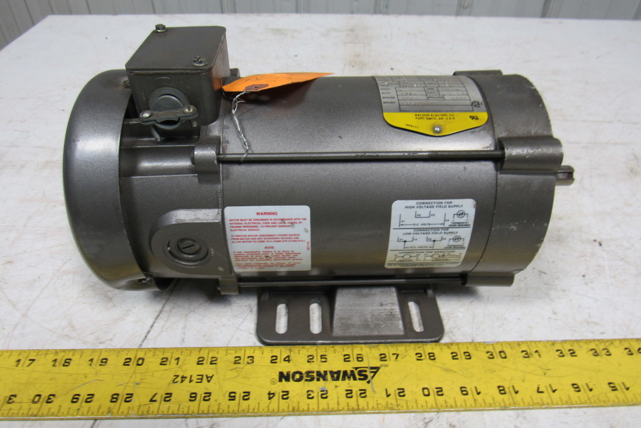 Baldor Cd3450 1 2 Hp 90 Volt Dc Electric Motor 1750 Rpm