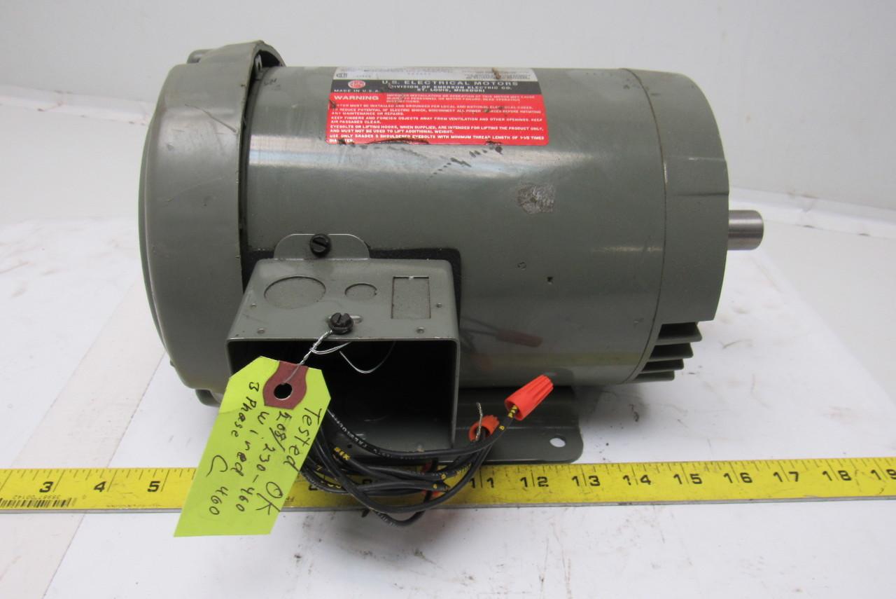 Us Motors F029 1hp Electric Motor 208 230 460v 3ph 1745rpm